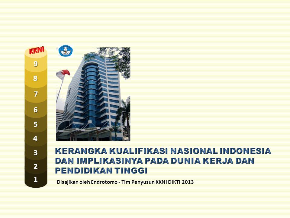 Disajikan oleh Endrotomo - Tim Penyusun KKNI DIKTI 2013 1 2 3 4 5 7 8 9 6