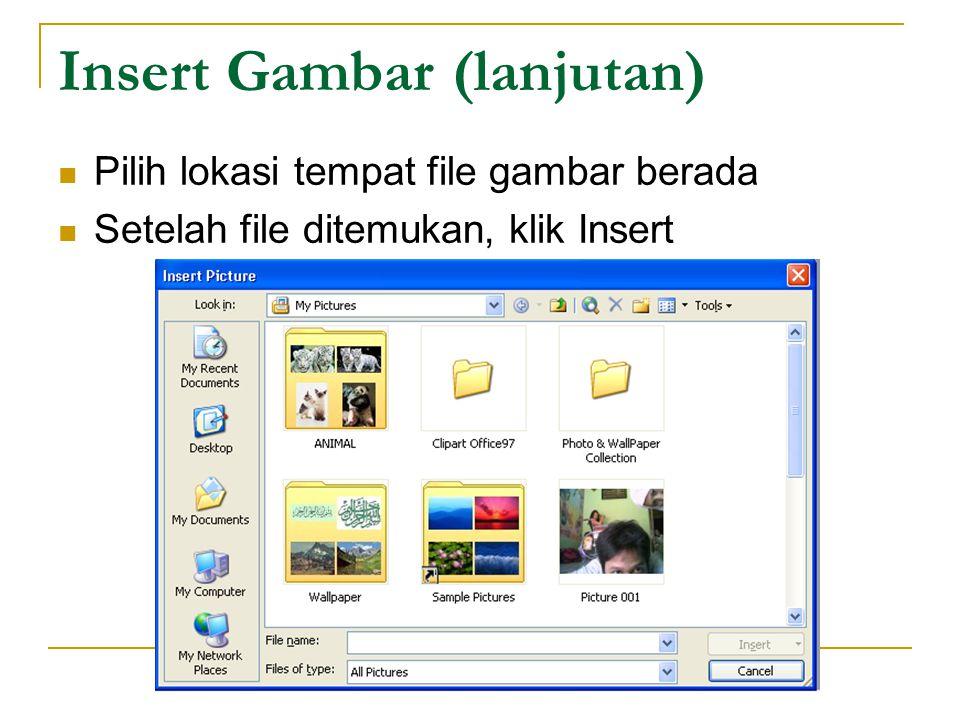 Pembuatan Hyperlink (lanjutan) Pilih Link to, misal Place in This Document Pilih salah satu dari Slide Titles, lalu klik OK