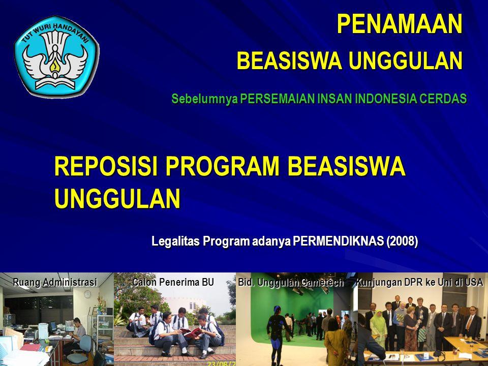 PENAMAAN BEASISWA UNGGULAN Sebelumnya PERSEMAIAN INSAN INDONESIA CERDAS Ruang Administrasi Calon Penerima BU Bid.