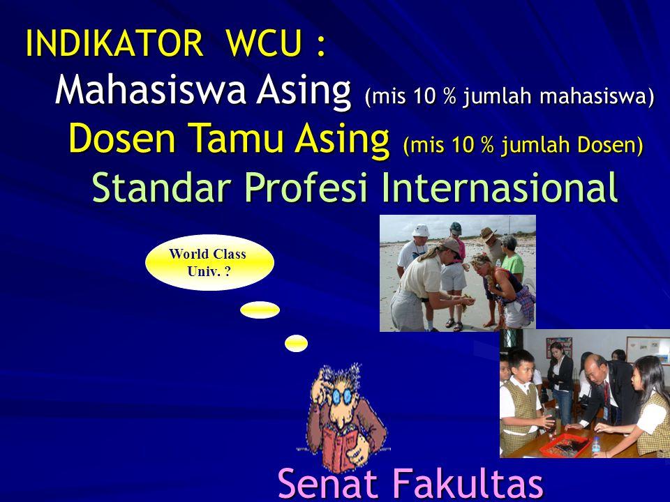INDIKATOR WCU : World Class Univ.