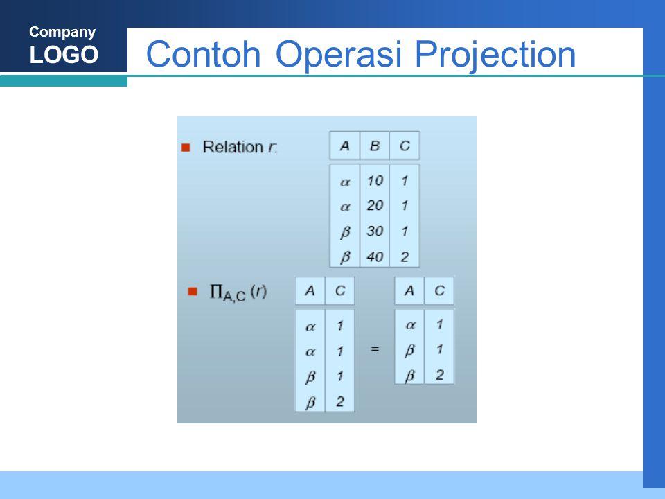 Company LOGO Contoh Operasi Projection