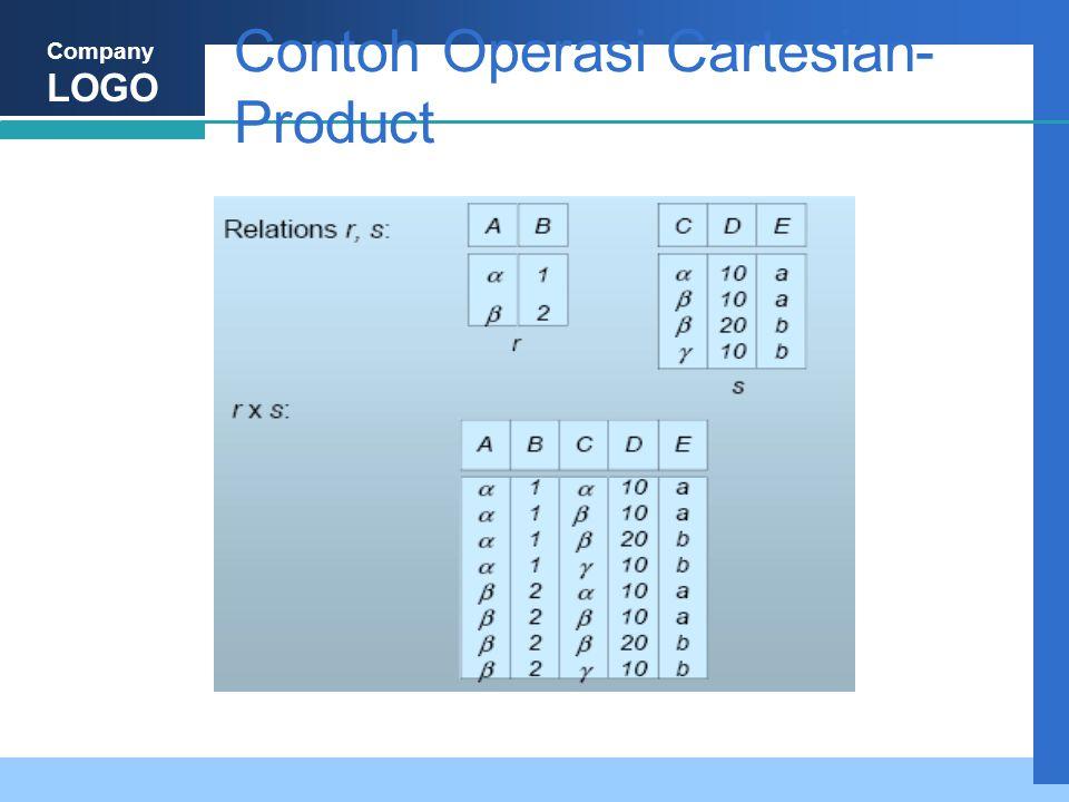 Company LOGO Contoh Operasi Cartesian- Product