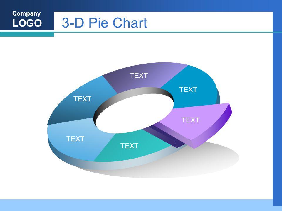 Company LOGO 3-D Pie Chart TEXT