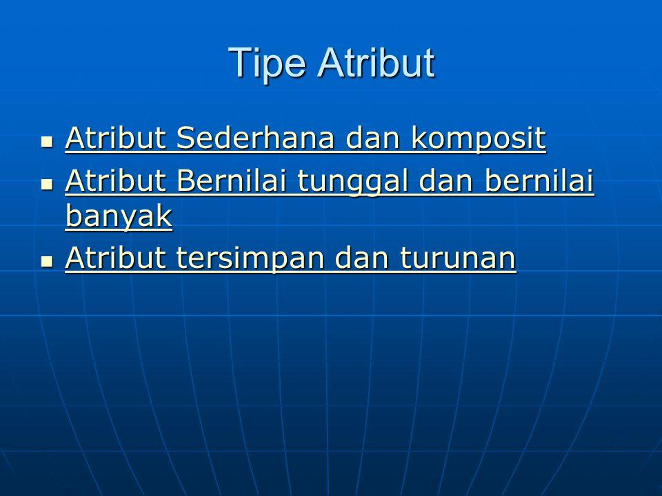 Tipe Atribut Atribut Sederhana dan komposit Atribut Sederhana dan komposit Atribut Sederhana dan komposit Atribut Sederhana dan komposit Atribut Berni