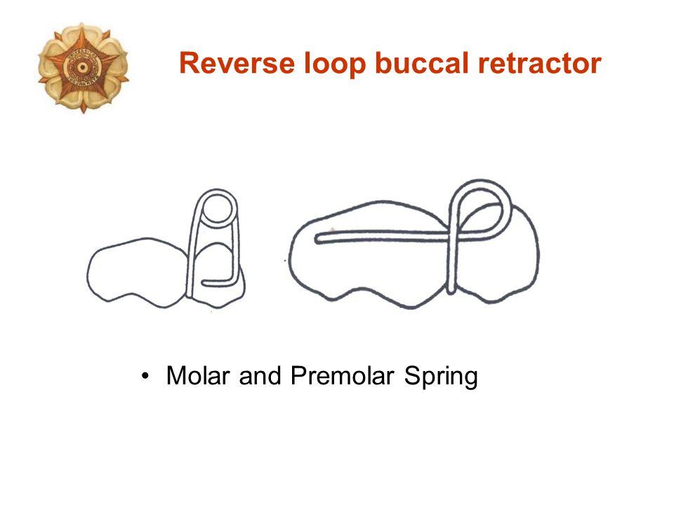 Reverse loop buccal retractor Molar and Premolar Spring