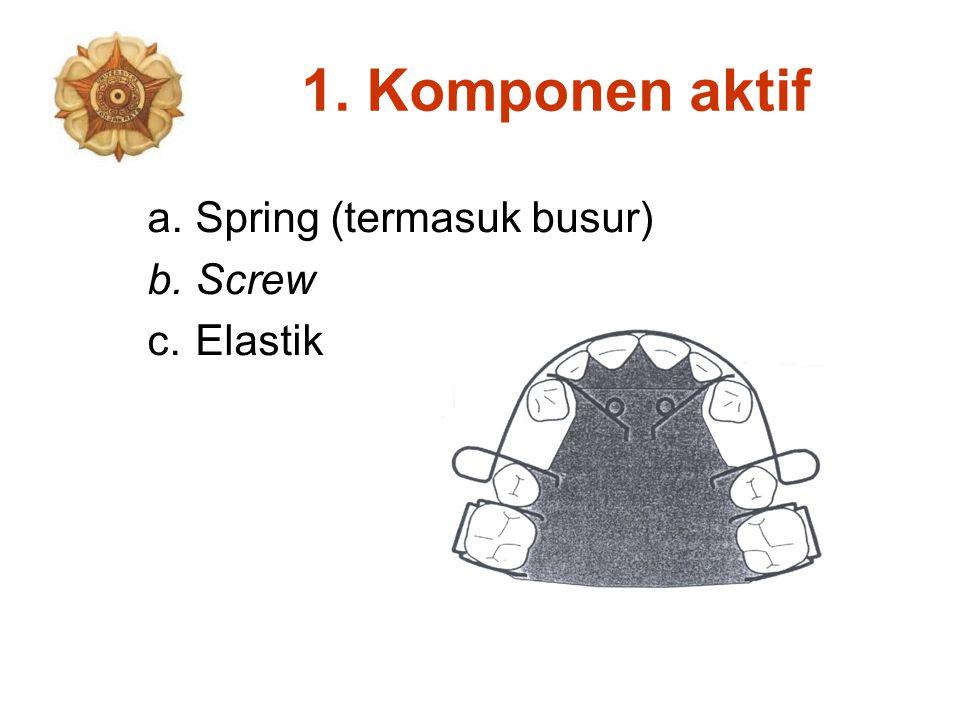 1. Komponen aktif a.Spring (termasuk busur) b.Screw c.Elastik