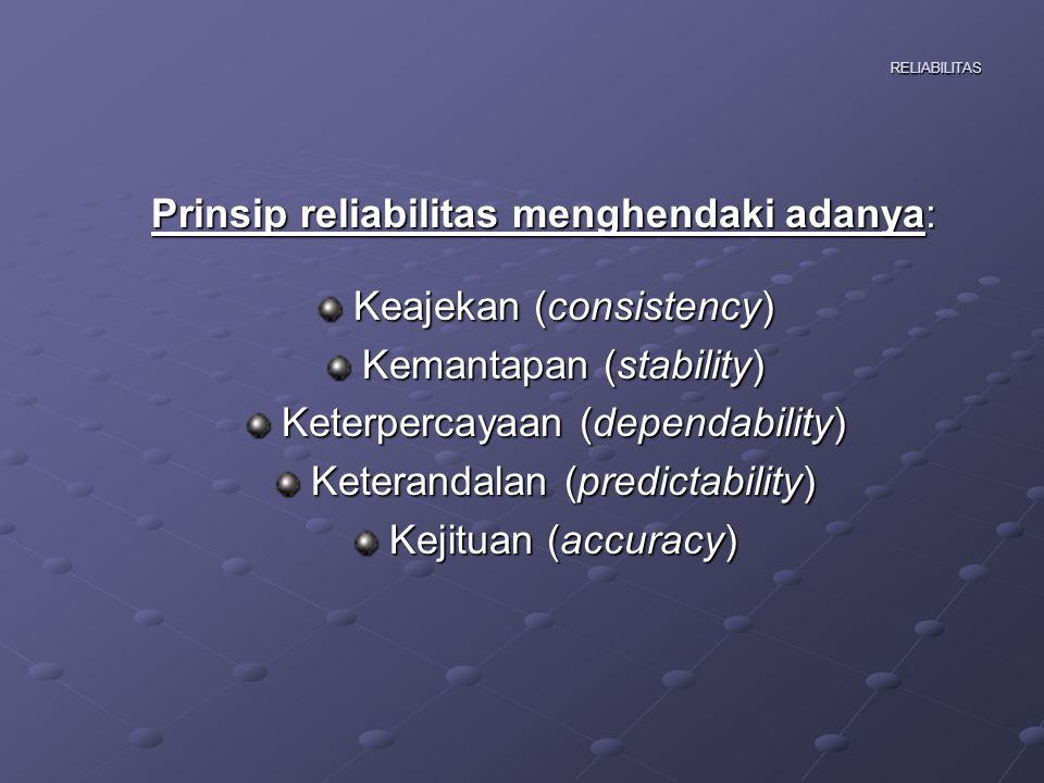 RELIABILITAS AAAAda dua pendekatan yang dapat digunakan untuk mengestimasi reliabilitas 1.