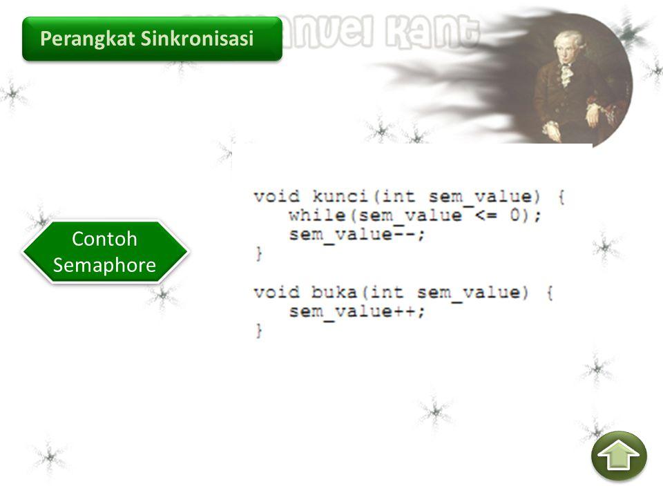 Perangkat Sinkronisasi Contoh Semaphore Contoh Semaphore