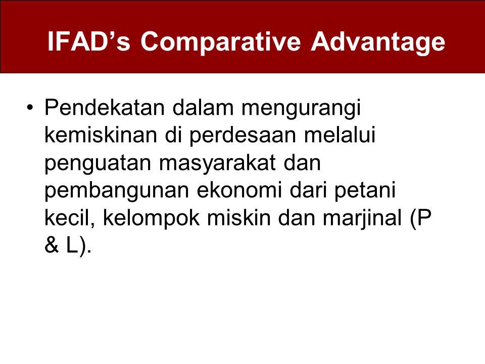 IFAD's Comparative Advantage Pendekatan dalam mengurangi kemiskinan di perdesaan melalui penguatan masyarakat dan pembangunan ekonomi dari petani keci