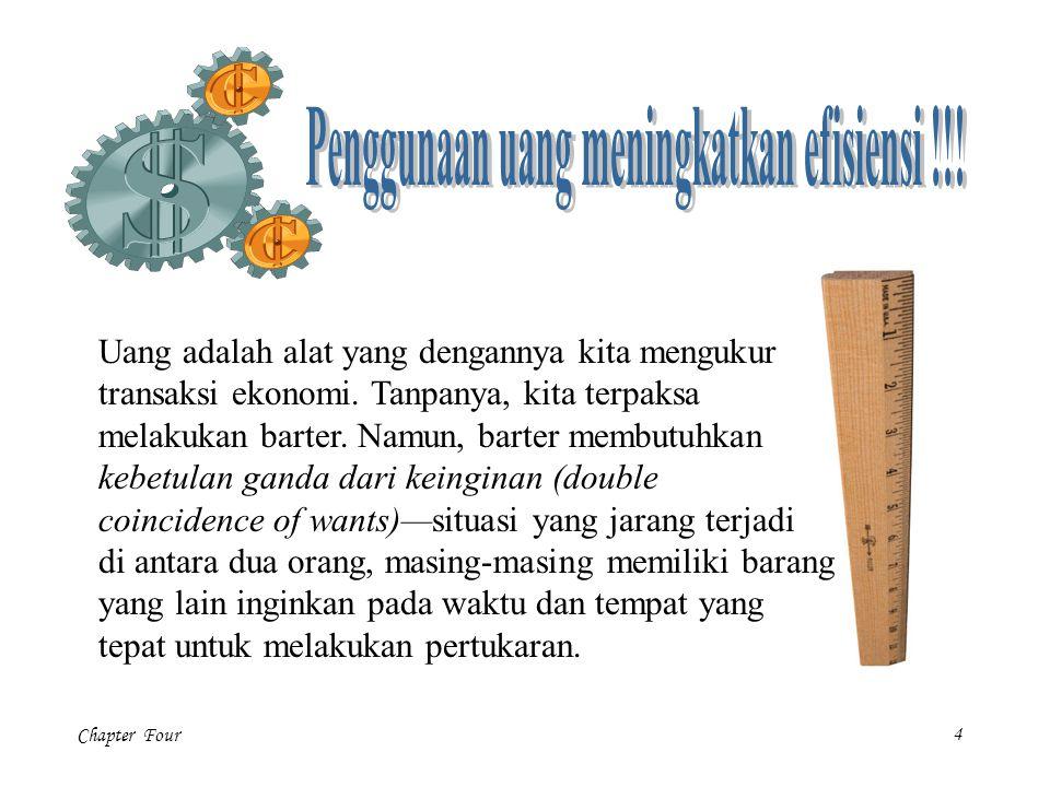 Chapter Four25 Sebagaimana teori kuantitas uang jelaskan, jumlah uang beredar dan permintaan uang sama-sama menentukan tingkat harga ekuilibrium.