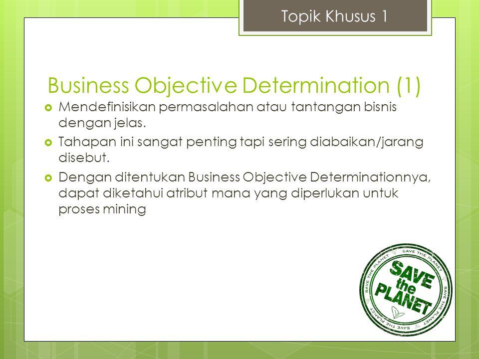 Topik Khusus 1  Mendefinisikan permasalahan atau tantangan bisnis dengan jelas.