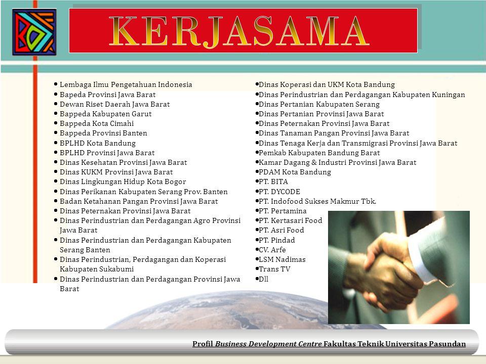  Lembaga Ilmu Pengetahuan Indonesia  Bapeda Provinsi Jawa Barat  Dewan Riset Daerah Jawa Barat  Bappeda Kabupaten Garut  Bappeda Kota Cimahi  Ba