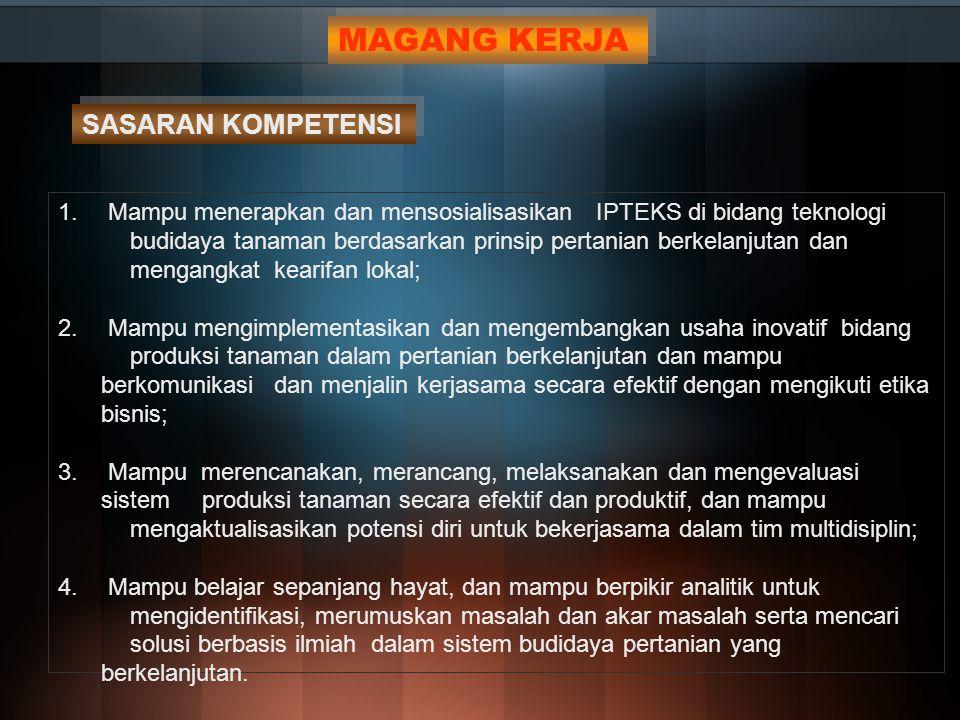 1.Penyusunan RPKPS mata kuliah yang akan ditawarkan oleh bagian akademik Fakultas Pertanian, 2.
