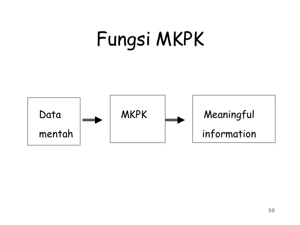 10 Fungsi MKPK Data MKPK Meaningful mentah information