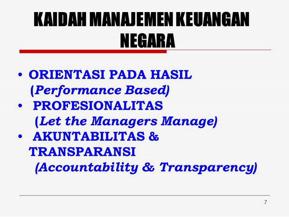 6 Kelembagaan Sektor Publik 1. Satker biasa  Non Profit (pendapatan < belanja)  Tidak Otonom  Pengelolaan sesuai dengan mekanisme APBN. 2. Satker d