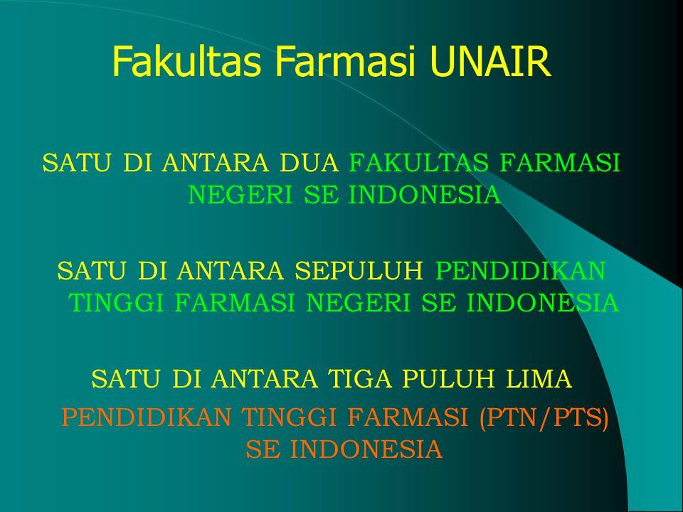 Fakultas Farmasi Universitas Airlangga Akreditasi 1998 : A-Pembina Re-akreditasi : Peringkat A, SK BAN PT tanggal 15 Oktober 2004, SK BAN PT tanggal 15 Oktober 2004, No.
