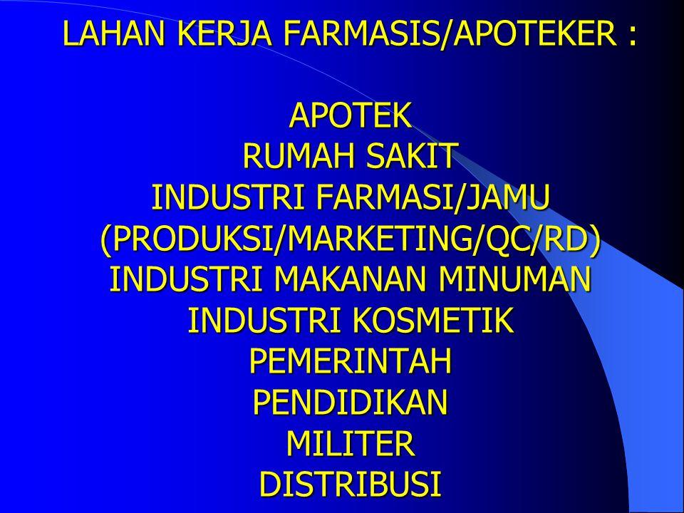 LULUSAN FARMASIS/ LULUSAN FARMASIS/APOTEKER