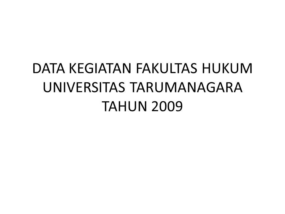 DATA KEGIATAN FAKULTAS HUKUM UNIVERSITAS TARUMANAGARA TAHUN 2009