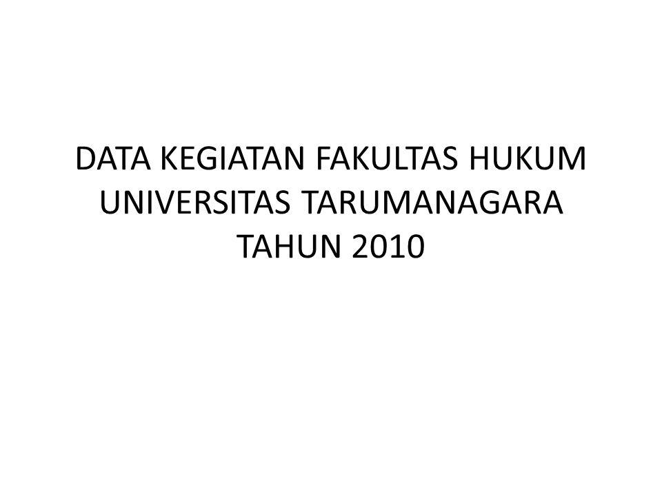 DATA KEGIATAN FAKULTAS HUKUM UNIVERSITAS TARUMANAGARA TAHUN 2010