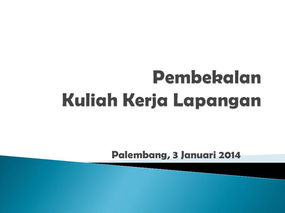 Palembang, 3 Januari 2014