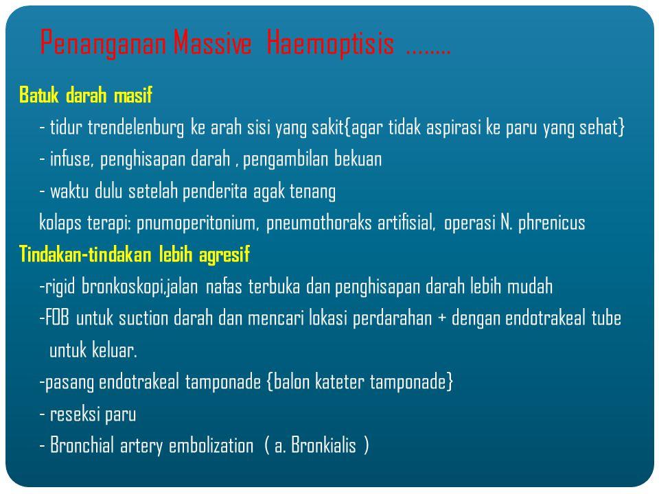 Penanganan Massive Haemoptisis........