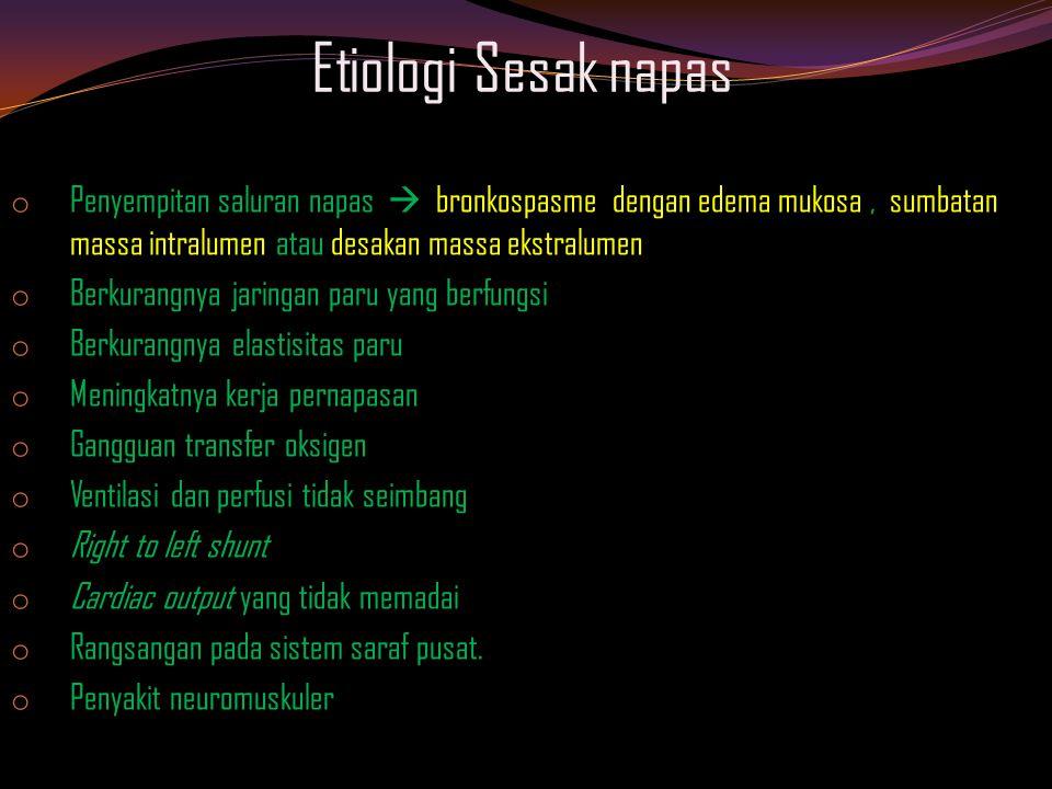 Reseptor dinding dada o Spindel dan tendon dari otot bantu napas o Aksinya berupa regangan dan kontraksi otot bantu napas o Diinervasi lewat Anterion Horn Cell dari spinal motor neuron o Di proyeksikan ke somatosensori pada cortex o Diafgragma juga mrp ot.