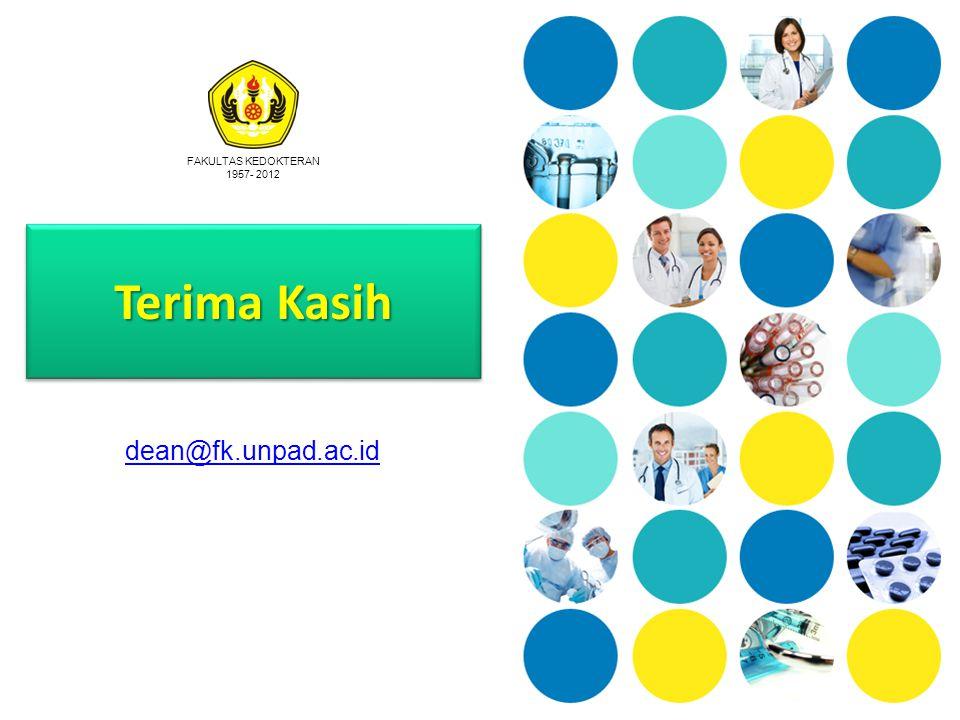 FAKULTAS KEDOKTERAN 1957- 2012 Terima Kasih dean@fk.unpad.ac.id