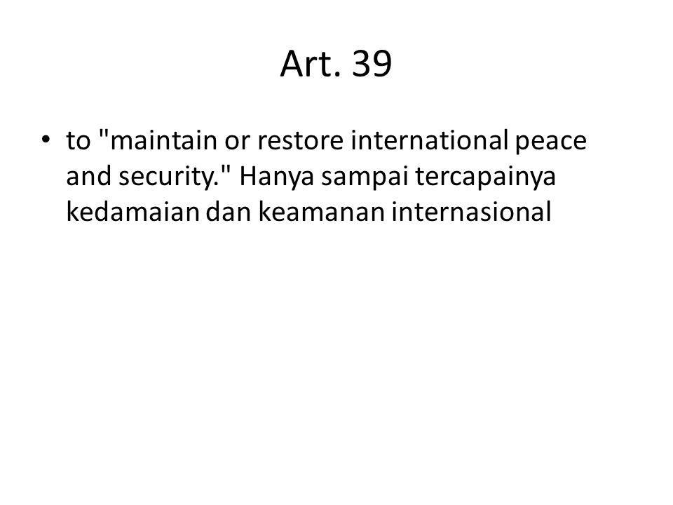 Art. 39 to