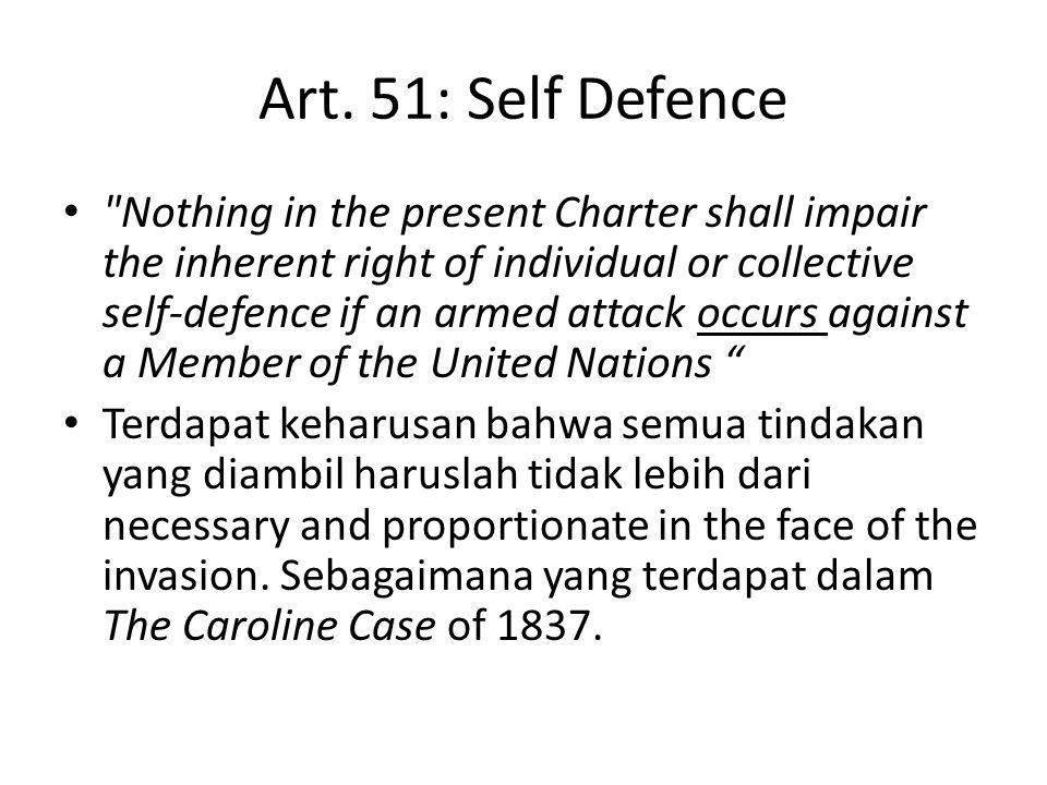 Art. 51: Self Defence