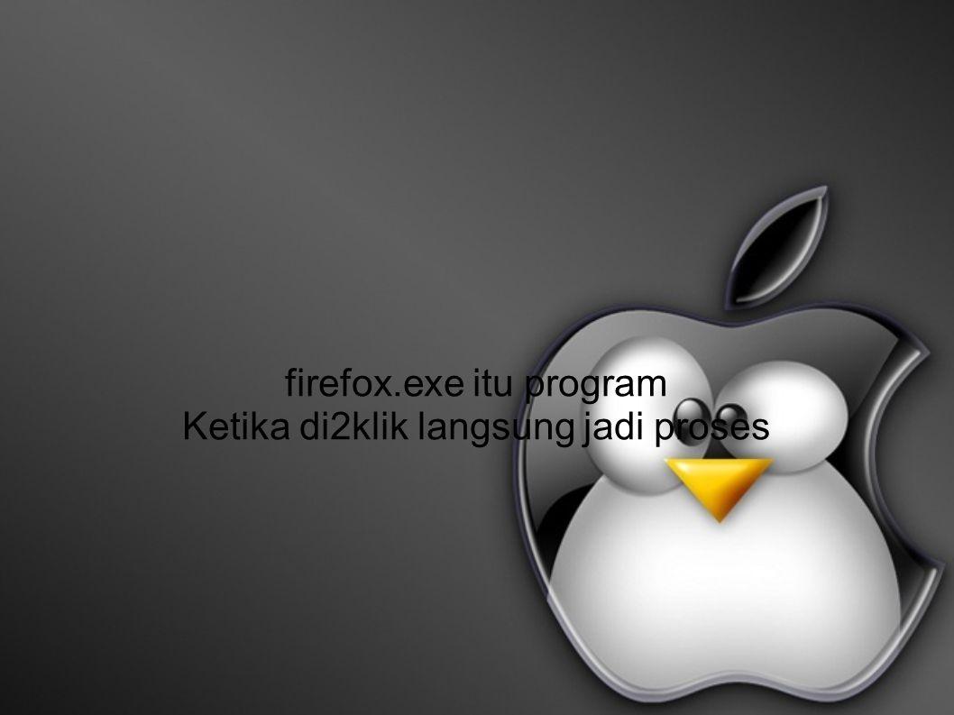 firefox.exe itu program Ketika di2klik langsung jadi proses