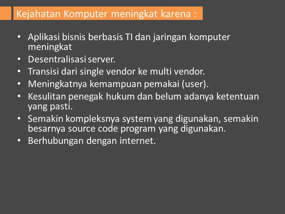 Aplikasi bisnis berbasis TI dan jaringan komputer meningkat Desentralisasi server. Transisi dari single vendor ke multi vendor. Meningkatnya kemampuan