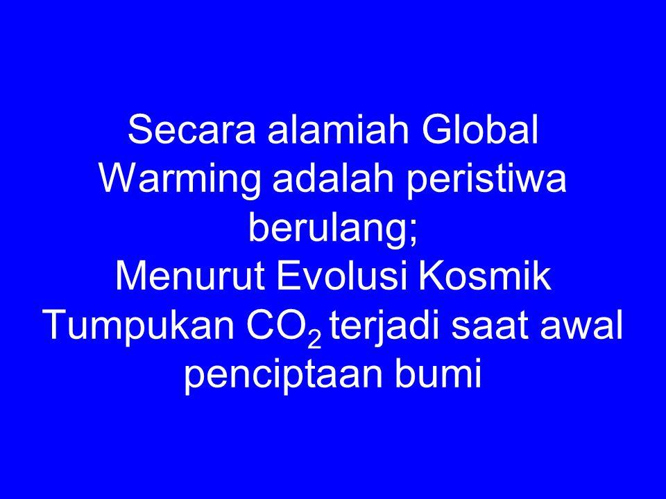 Secara alamiah Global Warming adalah peristiwa berulang; Menurut Evolusi Kosmik Tumpukan CO 2 terjadi saat awal penciptaan bumi