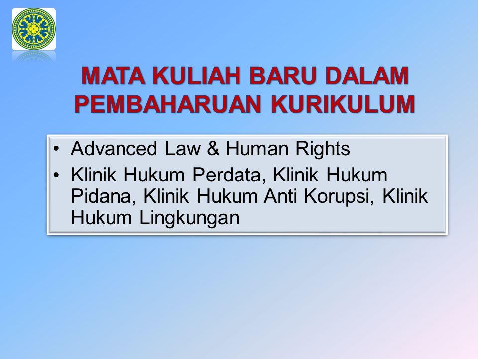Advanced Law & Human Rights Klinik Hukum Perdata, Klinik Hukum Pidana, Klinik Hukum Anti Korupsi, Klinik Hukum Lingkungan Advanced Law & Human Rights