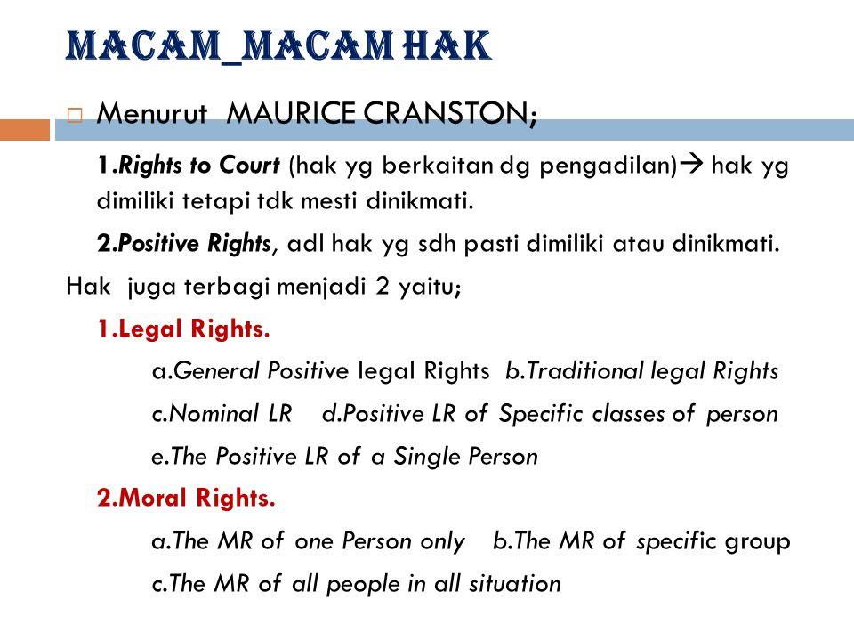  Jadi jika HAM diimplementasikan dlm hk domistik mk disebut sbg hak sipil/konstitusional.  Dan jika diimplementasikan dlm HI mk disebut sbg HAM. Ada