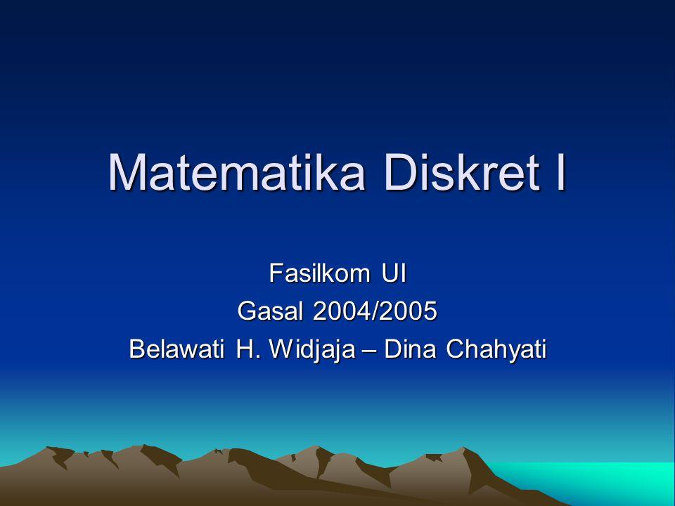 Buku Teks Discrete Mathematics and Its Application –Pengarang: Kenneth H.