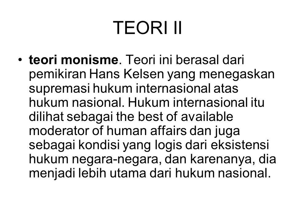 TEORI II teori monisme.