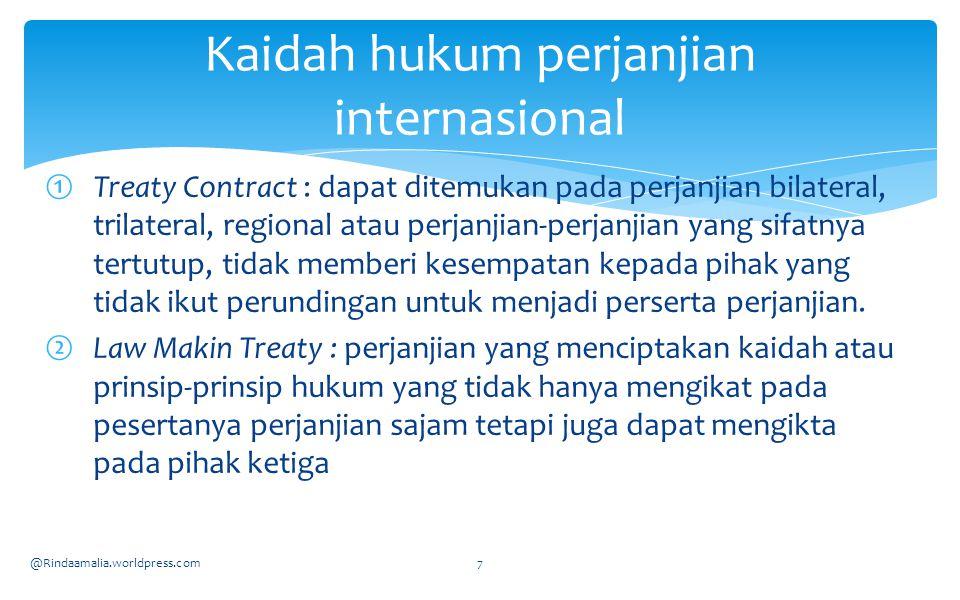  Bilamana hukum kebiasaan dan perjanjian internasional menetapkan kewajiban-kewajiban hukum yang sama maka tidak akan menimbulkan banyak masalah.