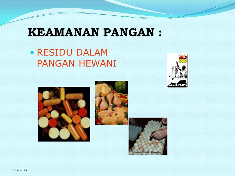 PERATURAN PEMERINTAH (PP) PRESIDEN REPUBLIK INDONESIA Nomor: 78 TAHUN 1992 (78/1992) Tentang: OBAT HEWAN Obat hewan menurut tujuan pemakaiannya digunakan untuk: a.