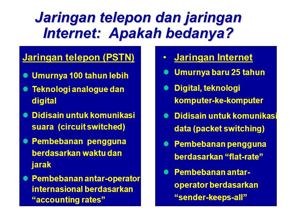 Jaringan telepon dan jaringan Internet: Apakah bedanya.