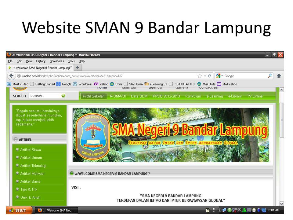 Website SMAN 9 Bandar Lampung 5