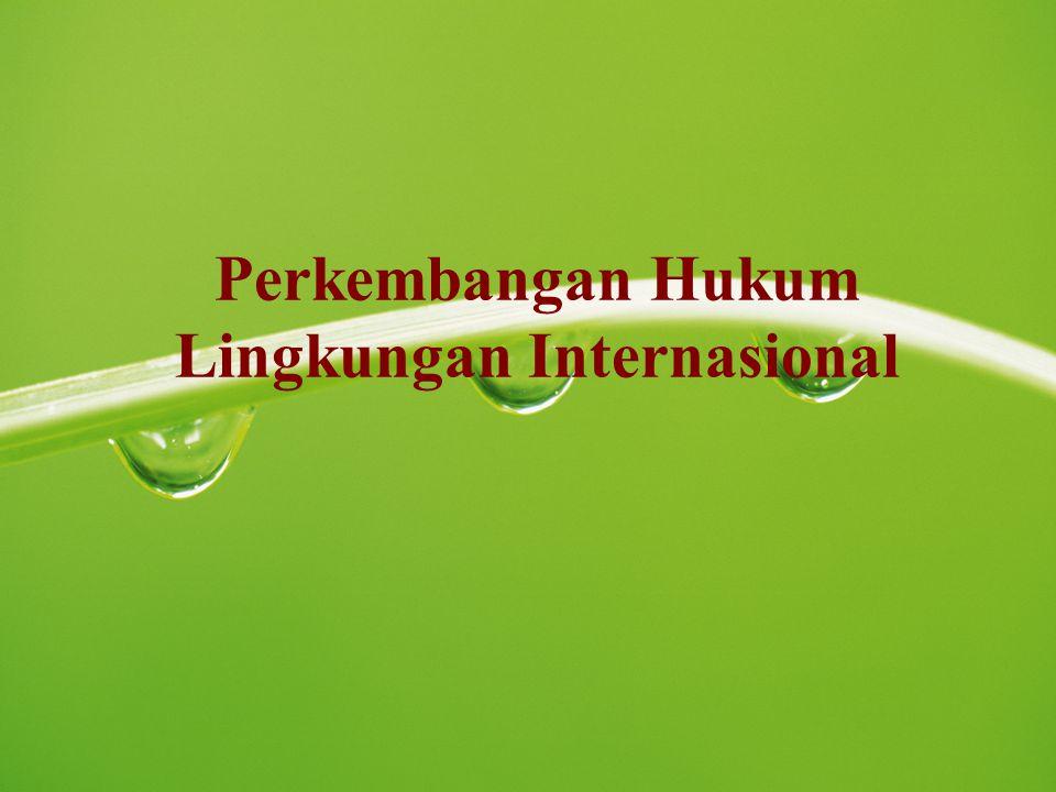 Perkembangan Hukum Lingkungan Internasional