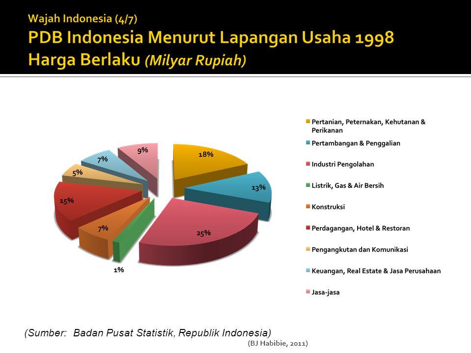 (Sumber: Badan Pusat Statistik, Republik Indonesia) (BJ Habibie, 2011)