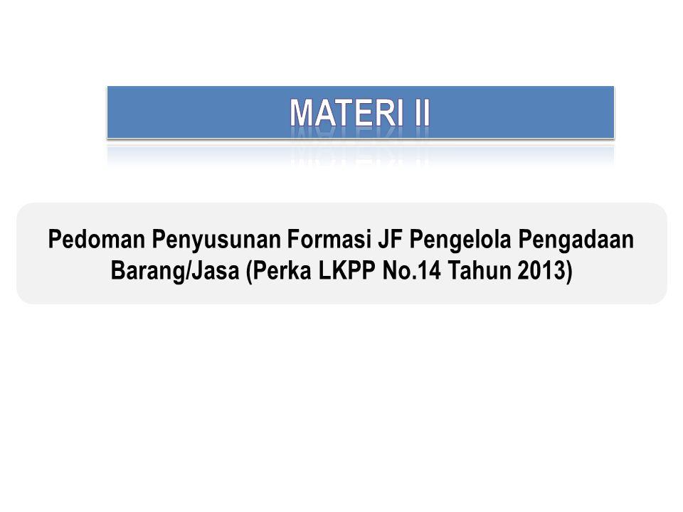 Pedoman Penyusunan Formasi JF Pengelola Pengadaan Barang/Jasa (Perka LKPP No.14 Tahun 2013)
