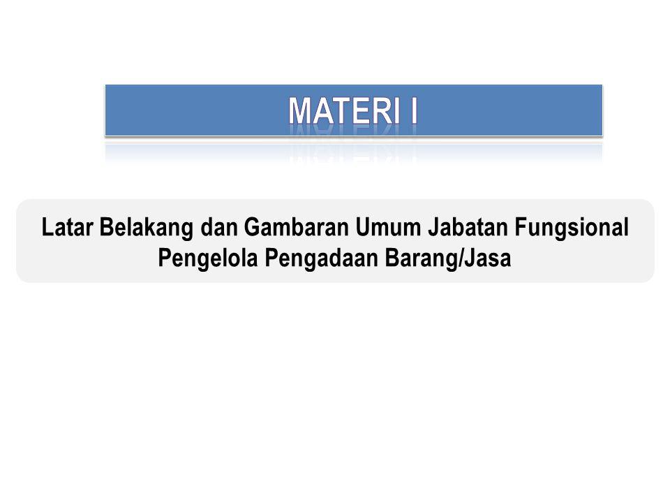 Latar Belakang dan Gambaran Umum Jabatan Fungsional Pengelola Pengadaan Barang/Jasa