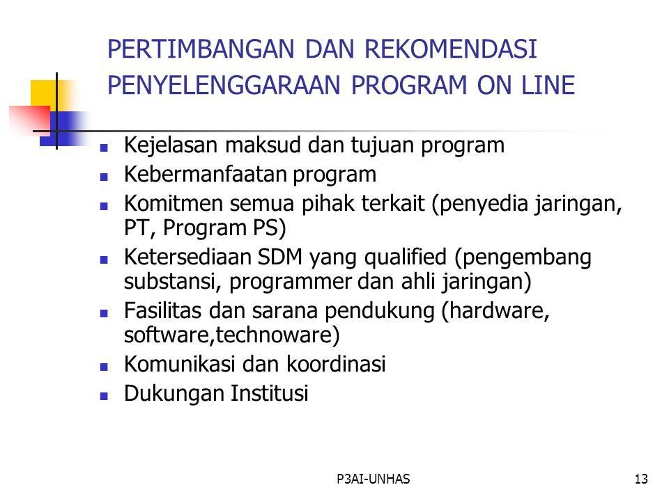P3AI-UNHAS12 PENGEMBANGAN MATERI PAU-ONLINE Mempelajari HTML Dan WEB Rancangan On Line Materi Ke HTML Materi Ke Blackboard Internet Off Line  GBPP On