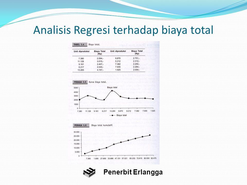 Analisis Regresi terhadap biaya total Penerbit Erlangga