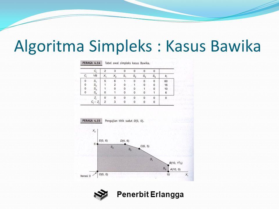 Algoritma Simpleks : Kasus Bawika Penerbit Erlangga