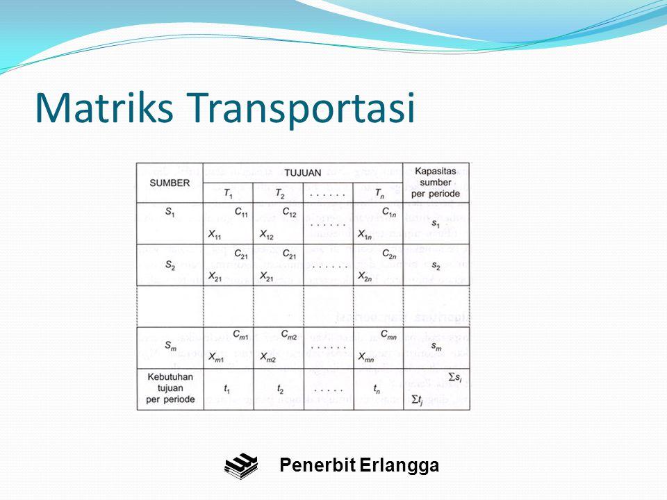 Matriks Transportasi Penerbit Erlangga