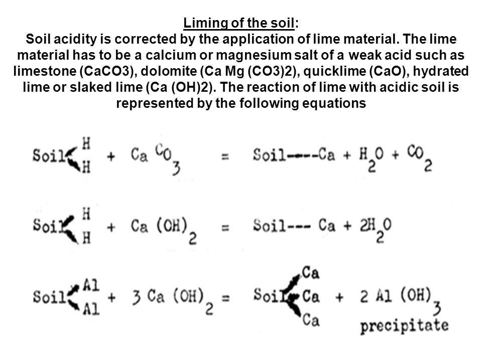 Sumber: www.fao.org/docrep/field/003/ac1...2E05.htm Reaction of lime and fertilizers with soil.