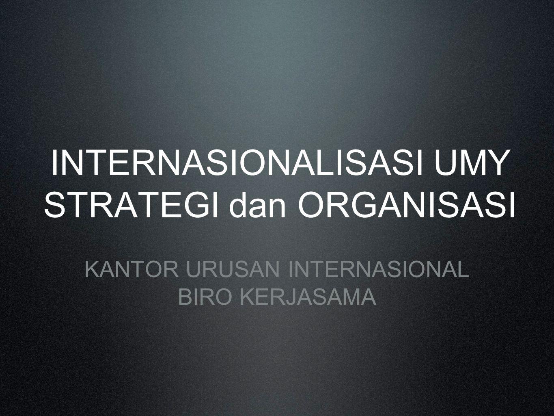 INTERNASIONALISASI UMY STRATEGI dan ORGANISASI KANTOR URUSAN INTERNASIONAL BIRO KERJASAMA
